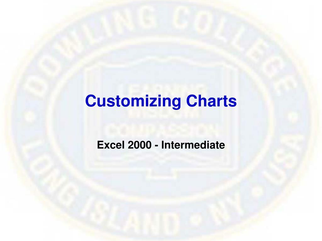 Customizing Charts
