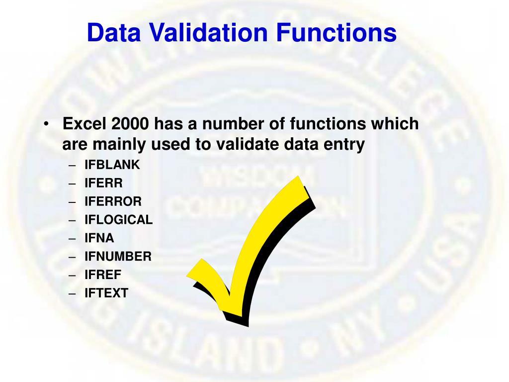 Data Validation Functions