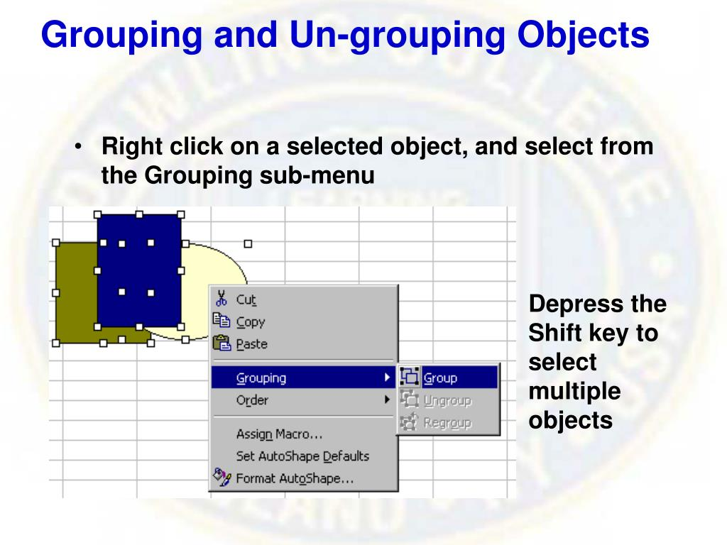 Grouping and Un-grouping Objects