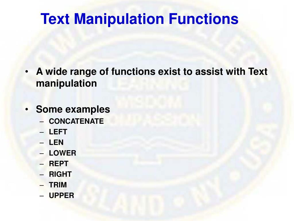Text Manipulation Functions
