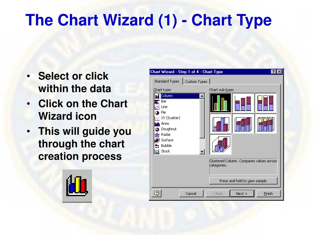 The Chart Wizard (1) - Chart Type