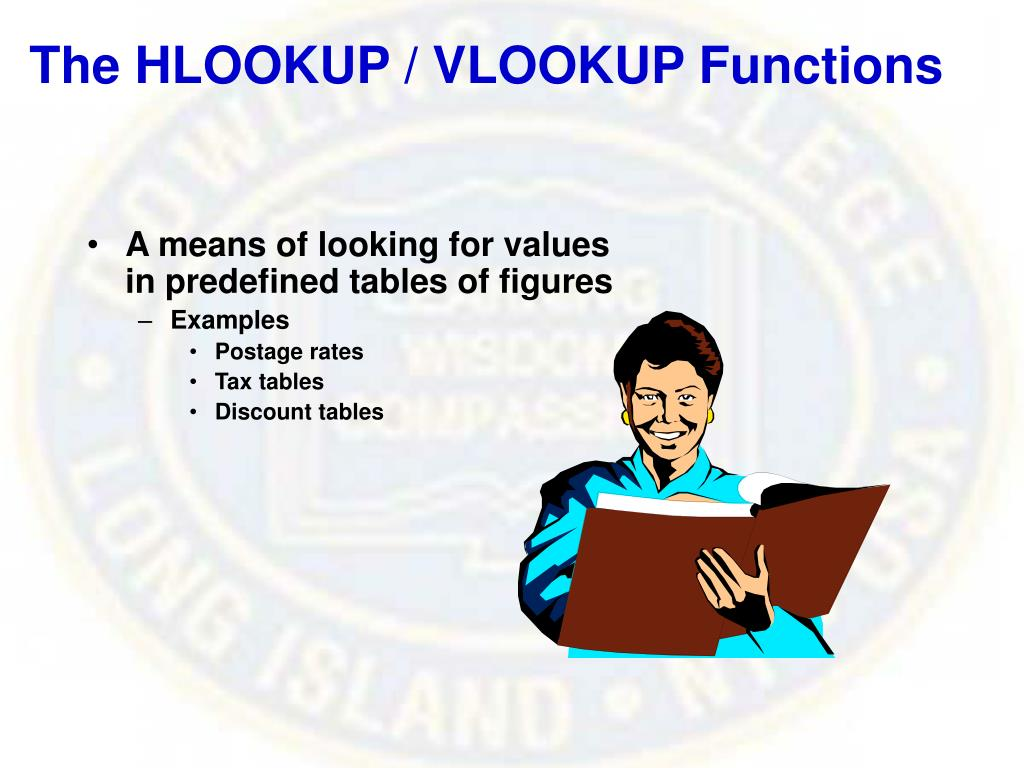 The HLOOKUP / VLOOKUP Functions