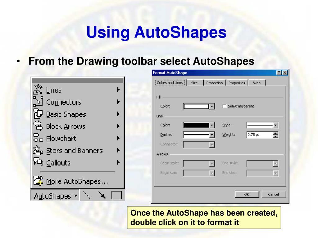 Using AutoShapes