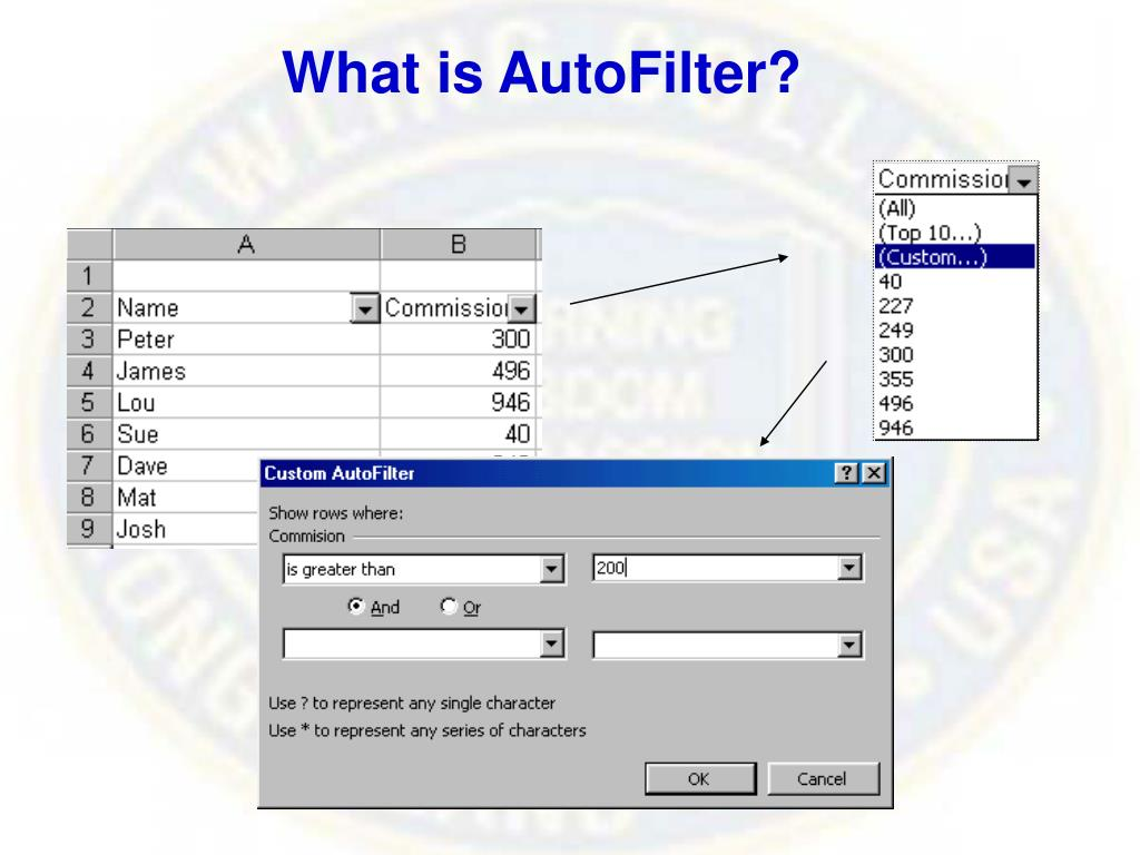 What is AutoFilter?