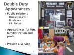 double duty appearances
