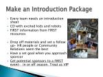 make an introduction package