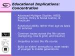 educational implications concentration
