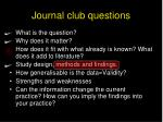 journal club questions