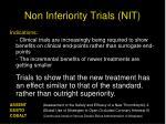 non inferiority trials nit