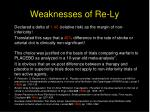 weaknesses of re ly