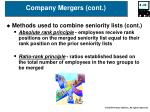 company mergers cont