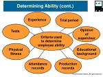 determining ability cont