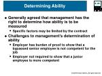 determining ability