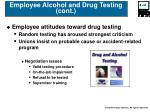 employee alcohol and drug testing cont31