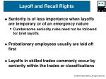 layoff and recall rights