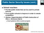public sector security issues cont