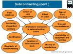 subcontracting cont