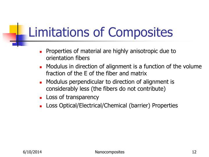 Limitations of Composites
