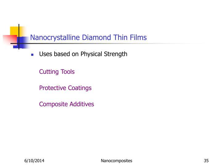 Nanocrystalline Diamond Thin Films