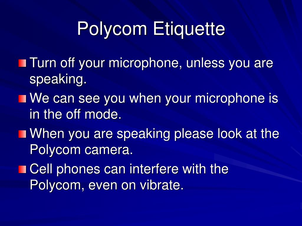 polycom etiquette l.