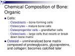 chemical composition of bone organic