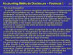 accounting methods disclosure footnote 1 2 4