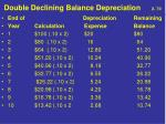 double declining balance depreciation 2 70
