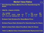 market value ratios 2 79
