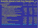 scientific atlanta s cash from operations 2 58