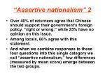 assertive nationalism 2