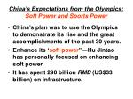 china s expectations from the olympics soft power and sports power