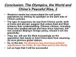 conclusion the olympics the world and china s peaceful rise 2