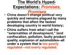 the world s hyped expectations promises promises