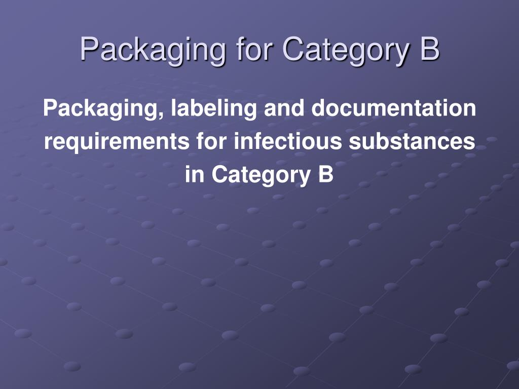Packaging for Category B
