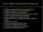 ca cf nbs collaborative network