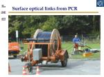 surface optical links from pcr