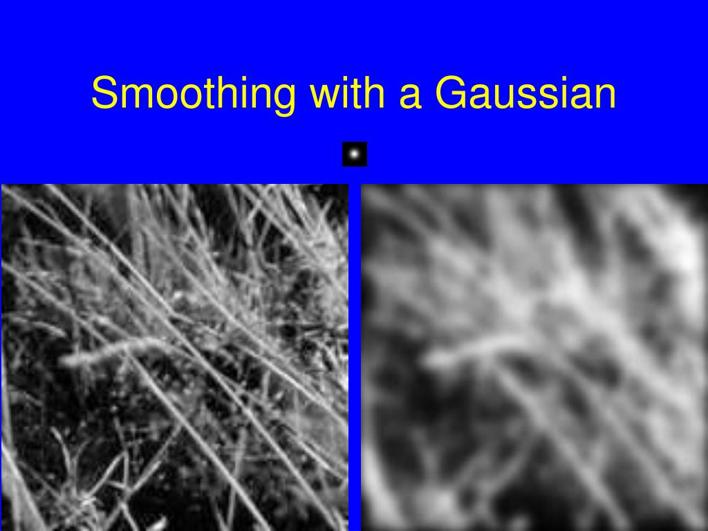 Smoothing with a Gaussian