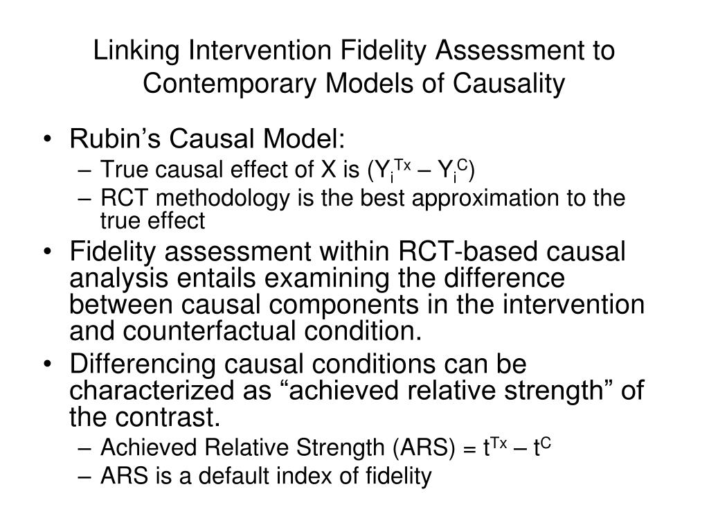 Linking Intervention Fidelity Assessment to Contemporary Models of Causality