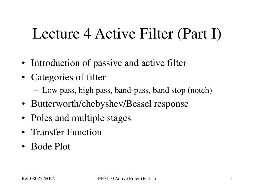 lecture 4 active filter part i l.