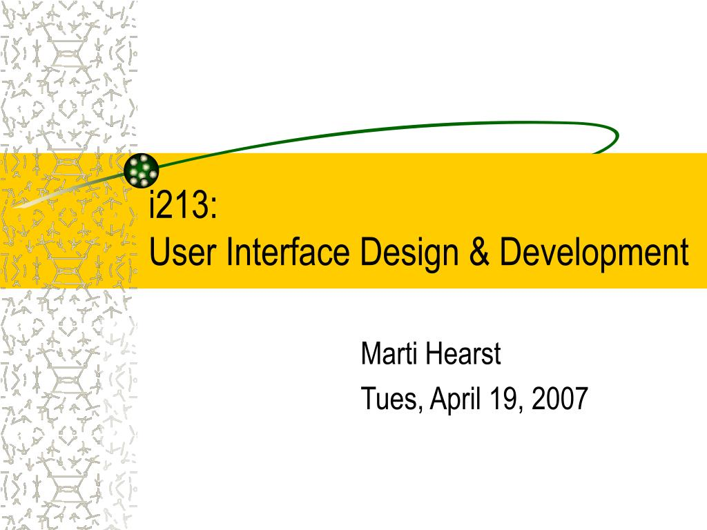 i213 user interface design development l.