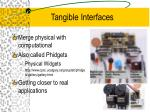 tangible interfaces