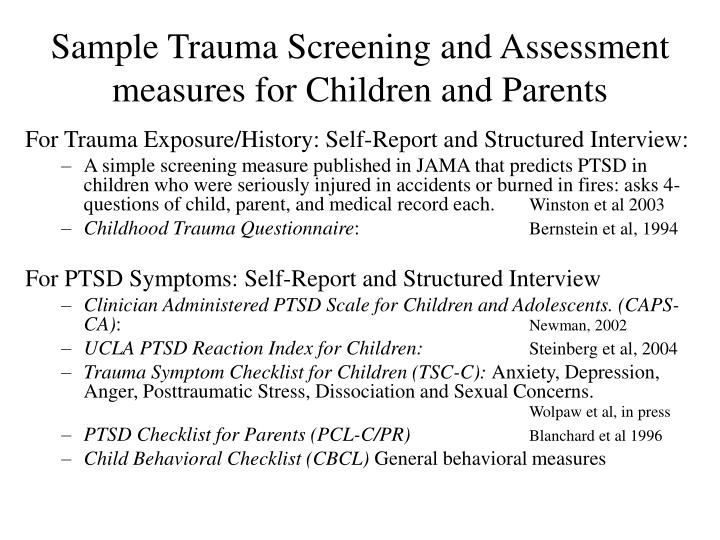 ptsd and childhood trauma Post-traumatic stress disorder  in some cases, however, symptoms may take a long time to appear delayed ptsd is often typical in cases of childhood sexual or physical abuse and trauma.