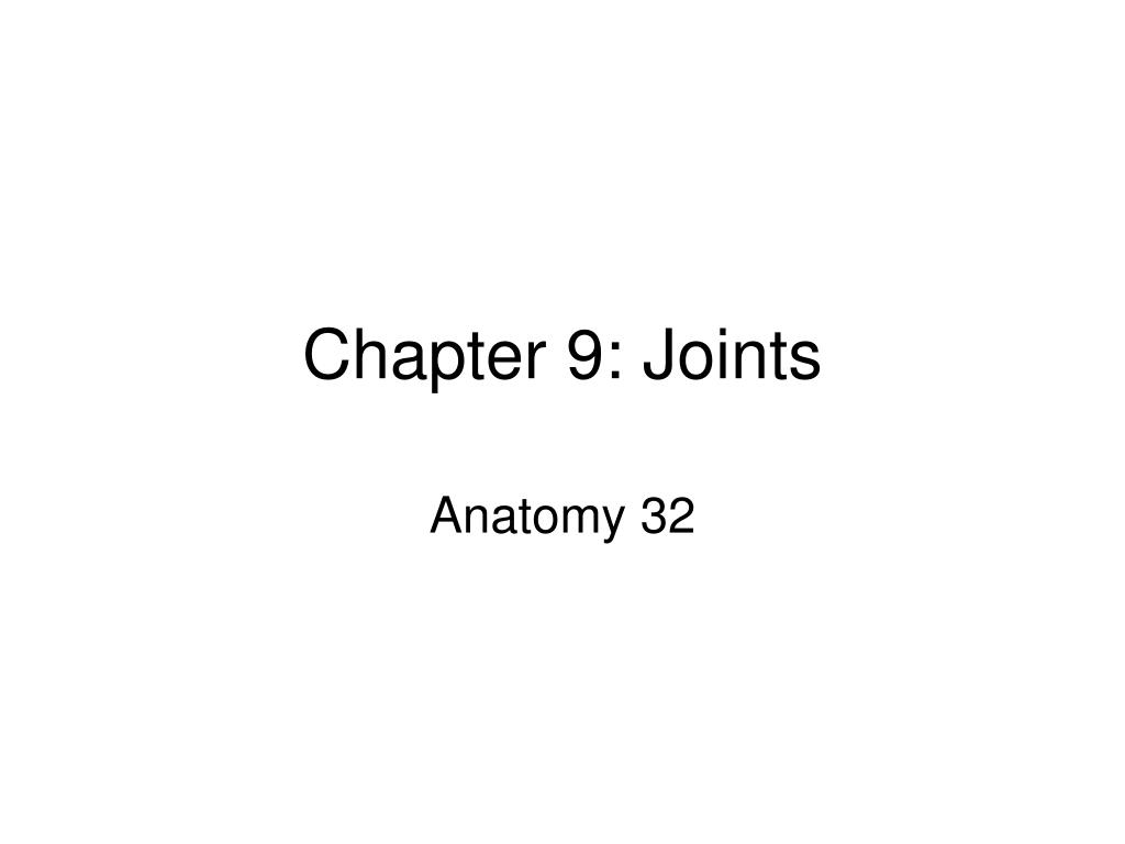 chapter 9 joints l.