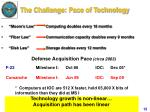 the challenge pace of technology