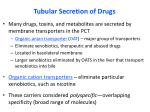 tubular secretion of drugs