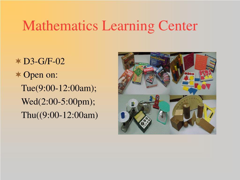 Mathematics Learning Center