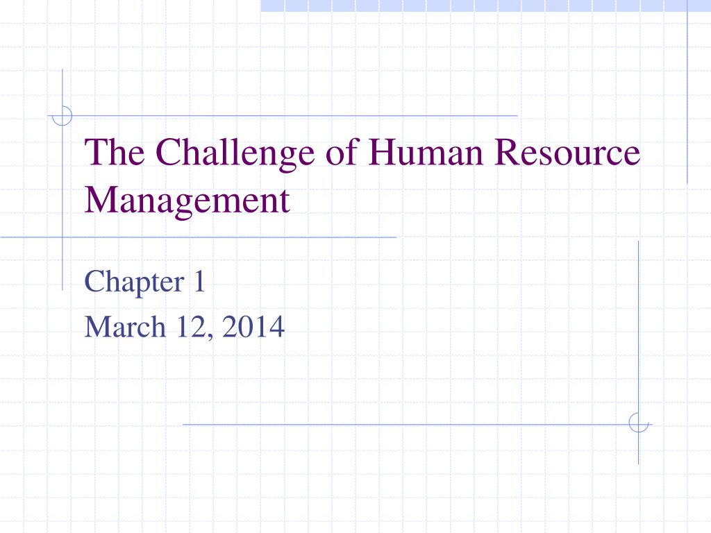 the challenge of human resource management l.
