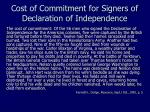 cost of commitment for signers of declaration of independence