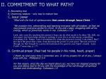 ii commitment to what path20