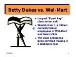 betty dukes vs wal mart